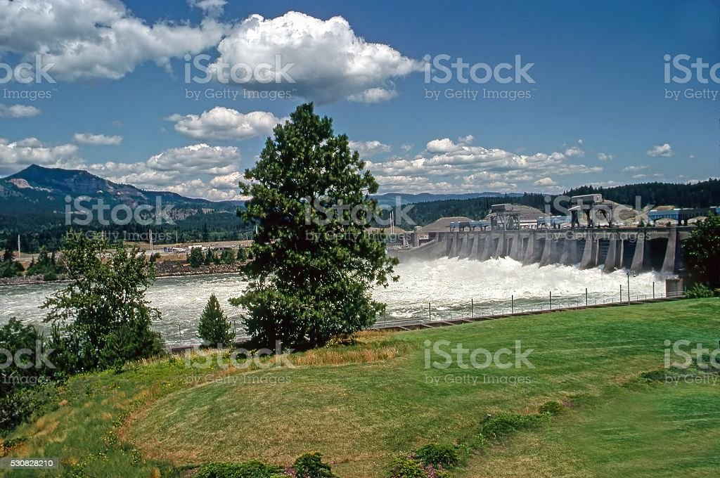 Dalles Dam stock photo