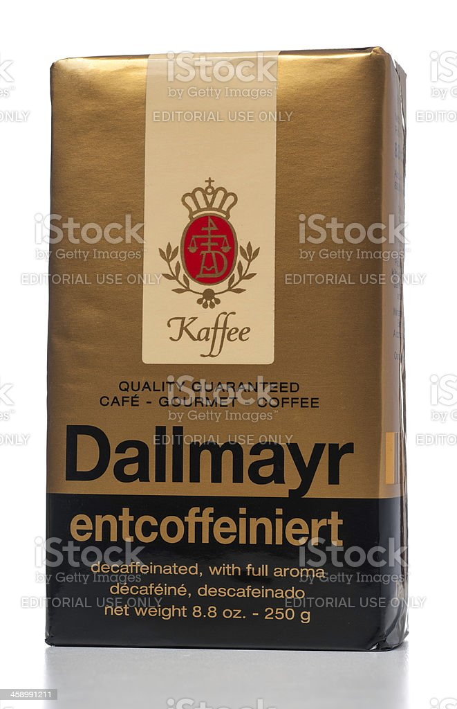 Dallmayr coffee decaffeinated with full aroma royalty-free stock photo
