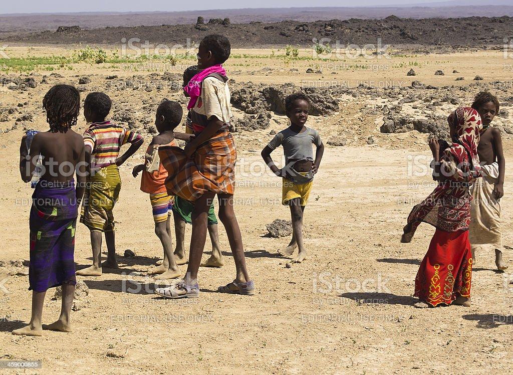 Dallol Children stock photo
