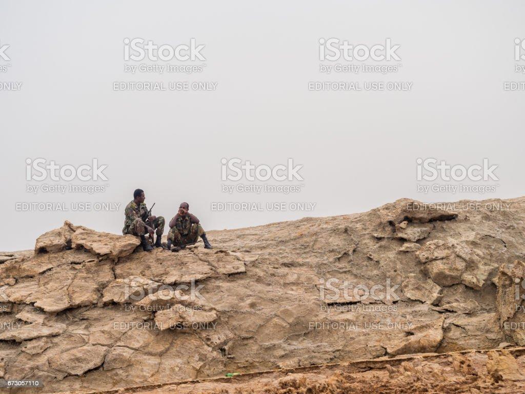 Dallol in Danakil Depression, Ethiopia stock photo
