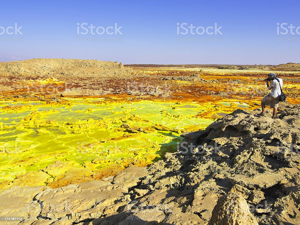 Dallol Photo stock photo