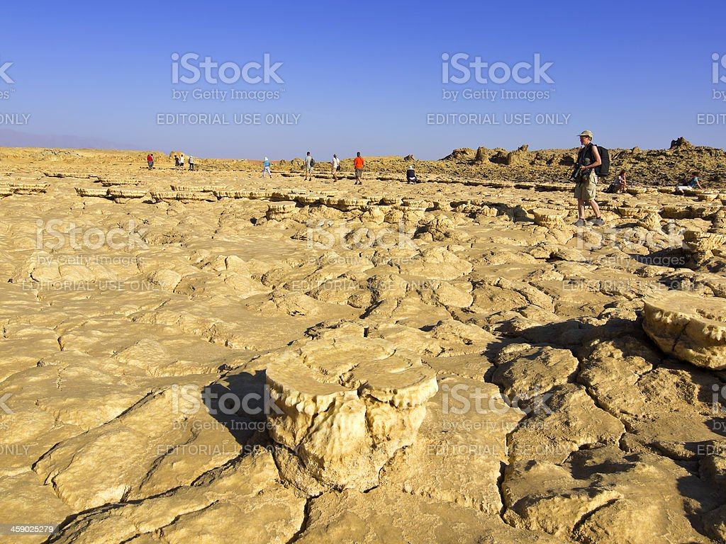 Dallol plates stock photo