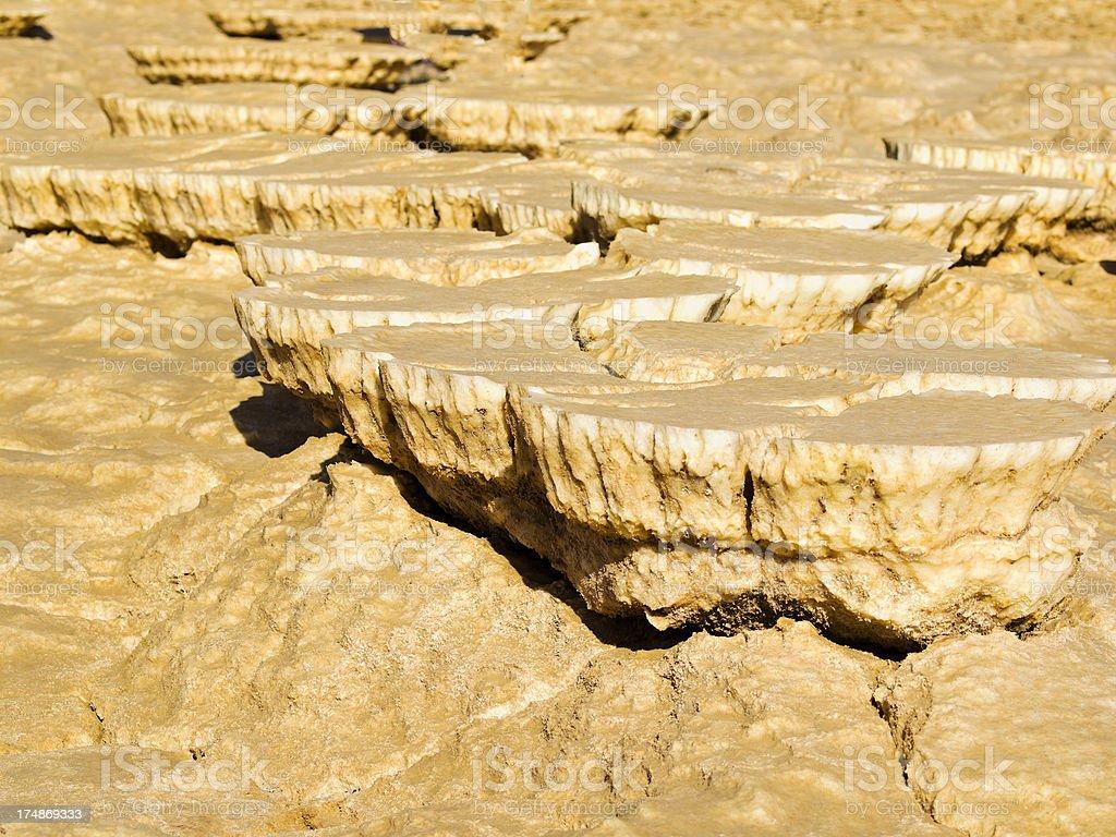 Dallol Volcano Salt Plates, North East Ethiopia stock photo