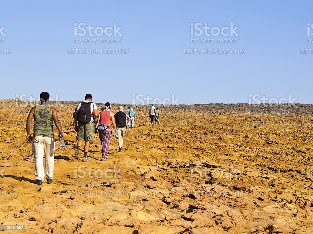 Dallol walk stock photo