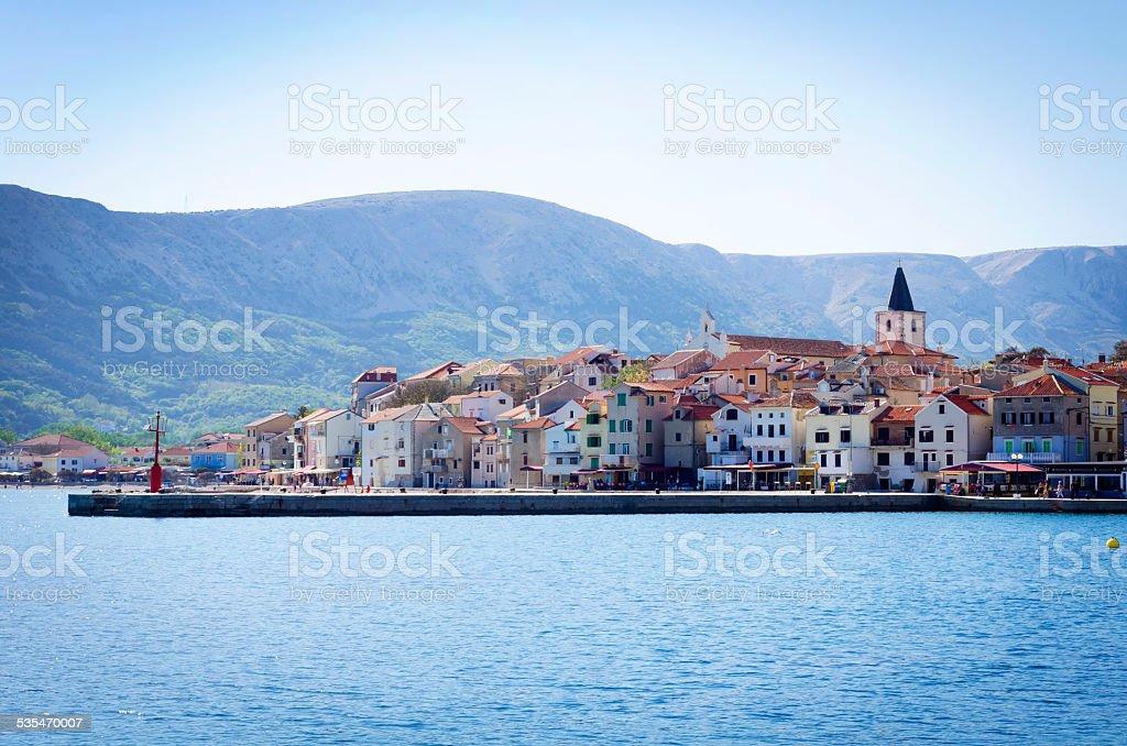 Dalmatian village by the sea stock photo