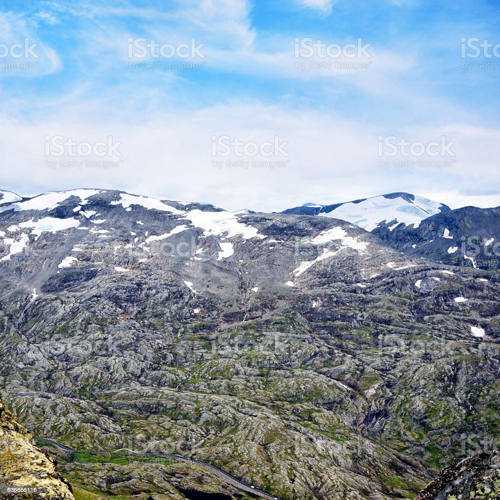 Dalsnibba, Norway stock photo