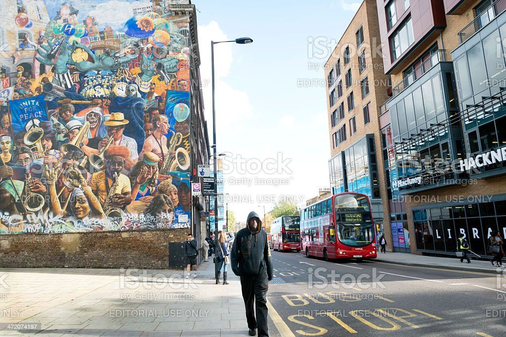 Dalston Lane in London, England, UK stock photo