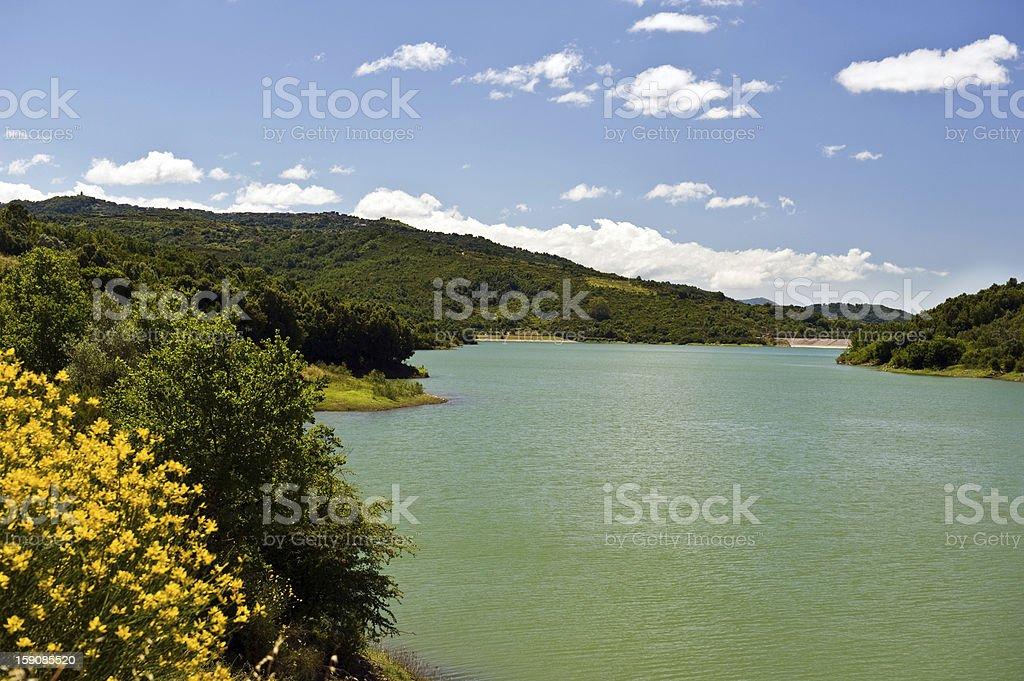 dam Alento in Cilento royalty-free stock photo