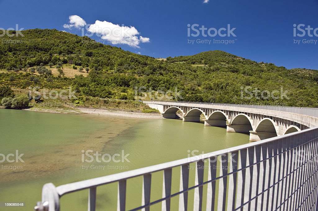 dam Alento in Cilento royalty-free stock photo
