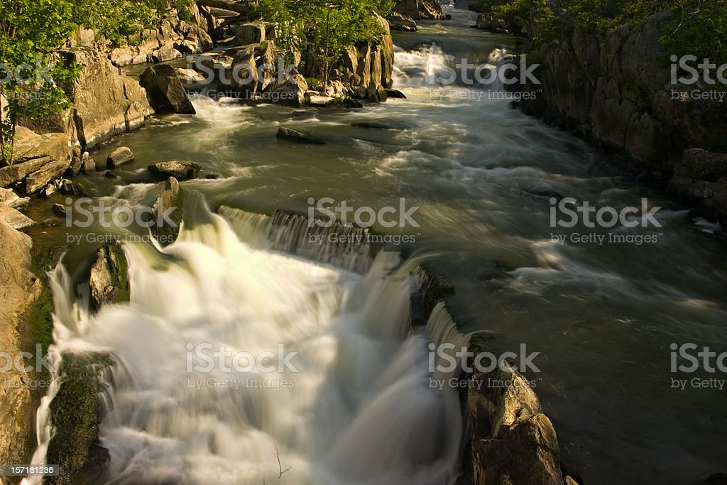 Dam and great falls of the Potomac river royalty-free stock photo