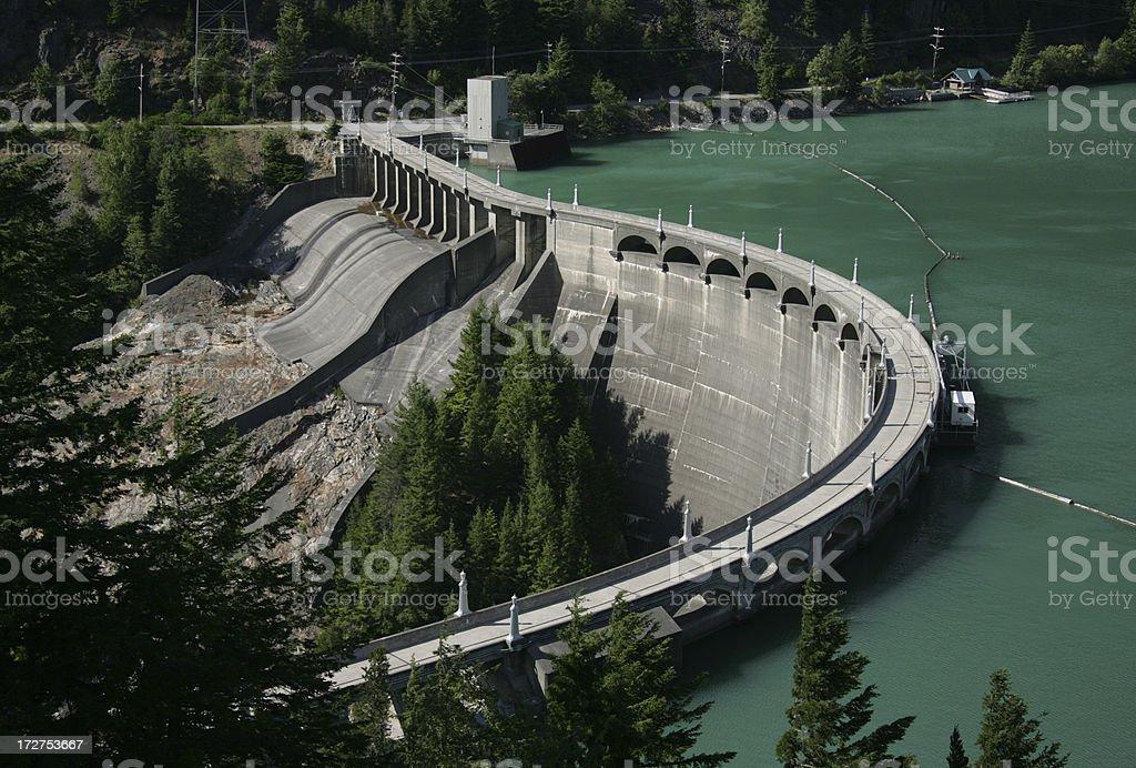 dam at diablo lake royalty-free stock photo