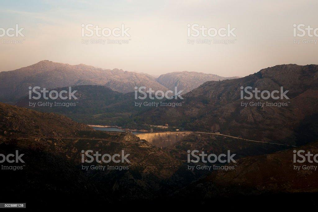 Dam at Geres Natural Park, Portugal stock photo