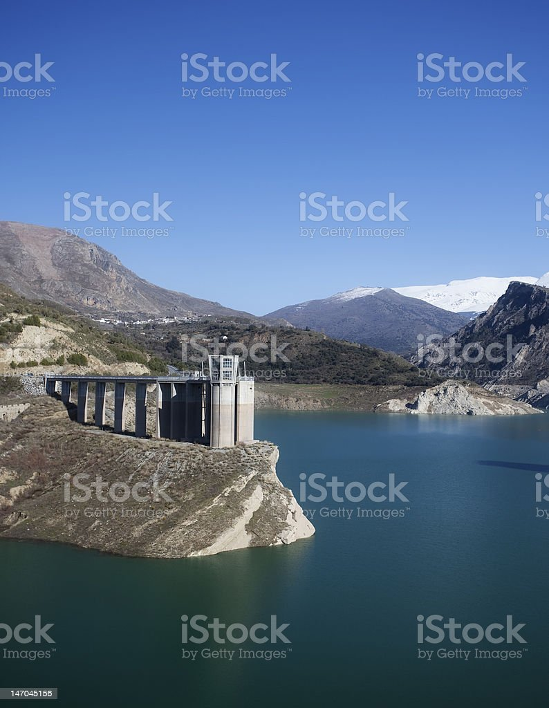Dam at high altitude royalty-free stock photo
