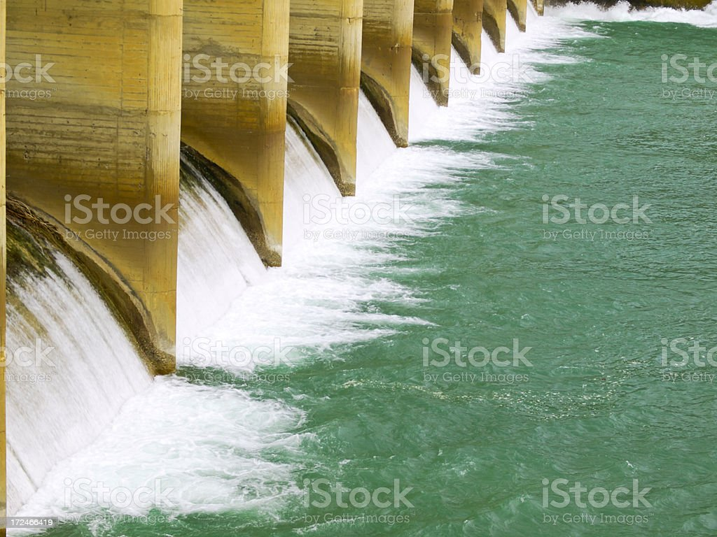 Dam detail stock photo