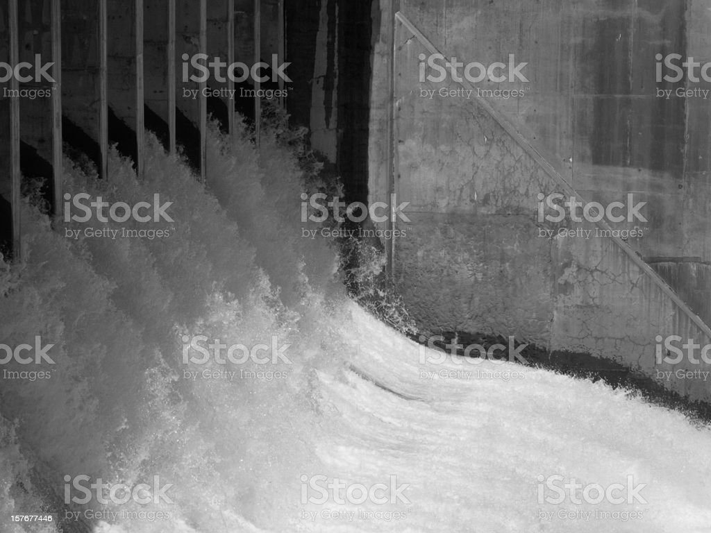 Dam Floodgate Water Outlet stock photo