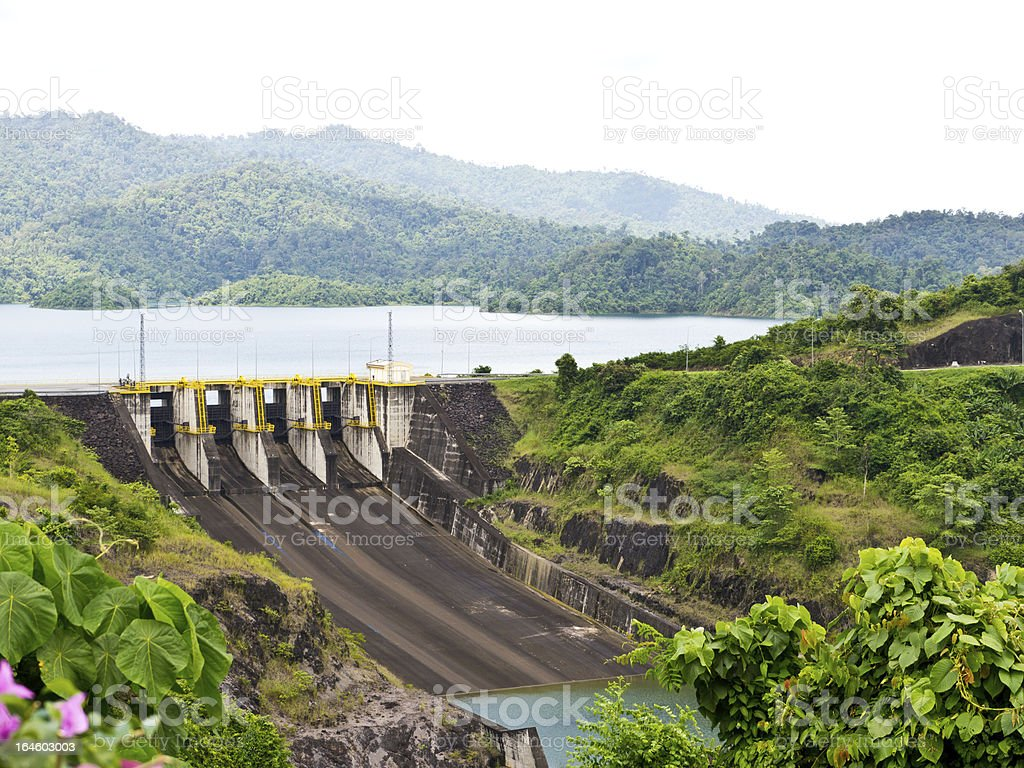 Dam for hydroelectric power station royalty-free stock photo