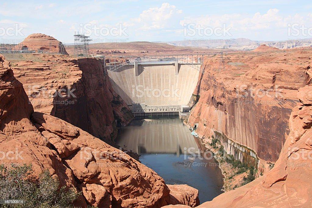 Dam - Glen Canyon, Arizona stock photo
