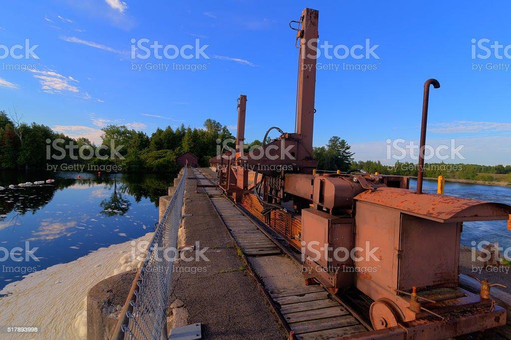 Dam hoist stock photo