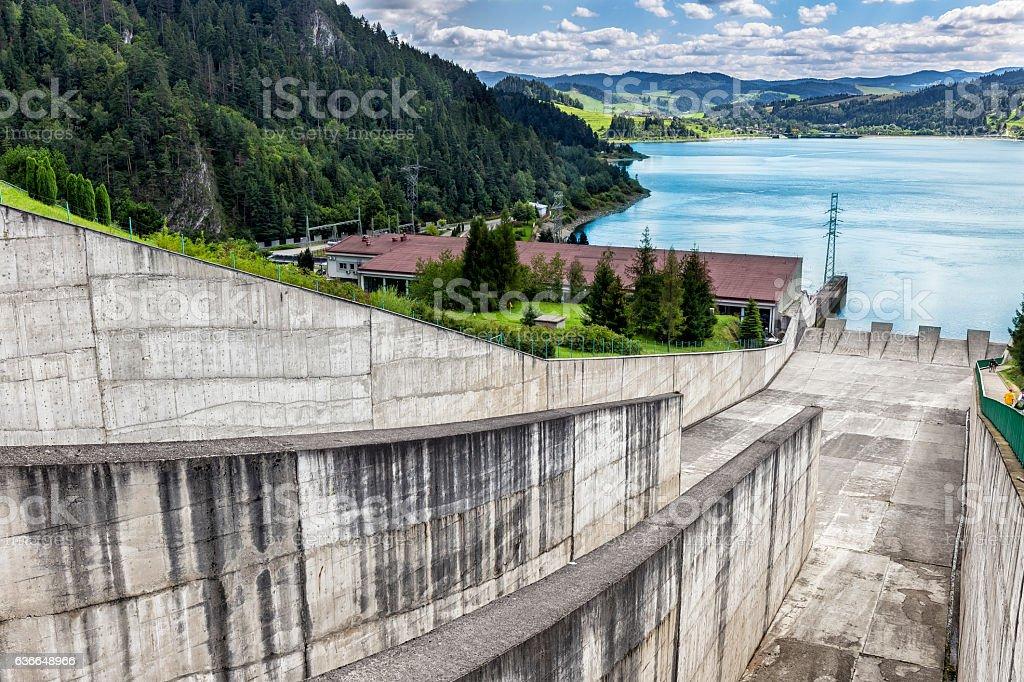Dam in Czorsztyn, Poland stock photo