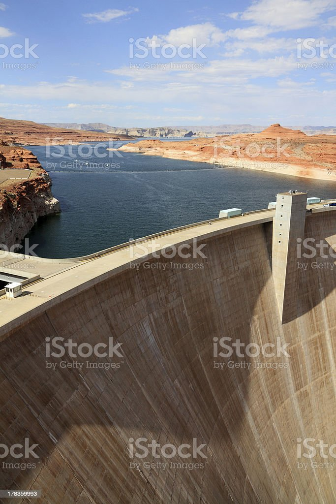 Dam in Lake Powell royalty-free stock photo