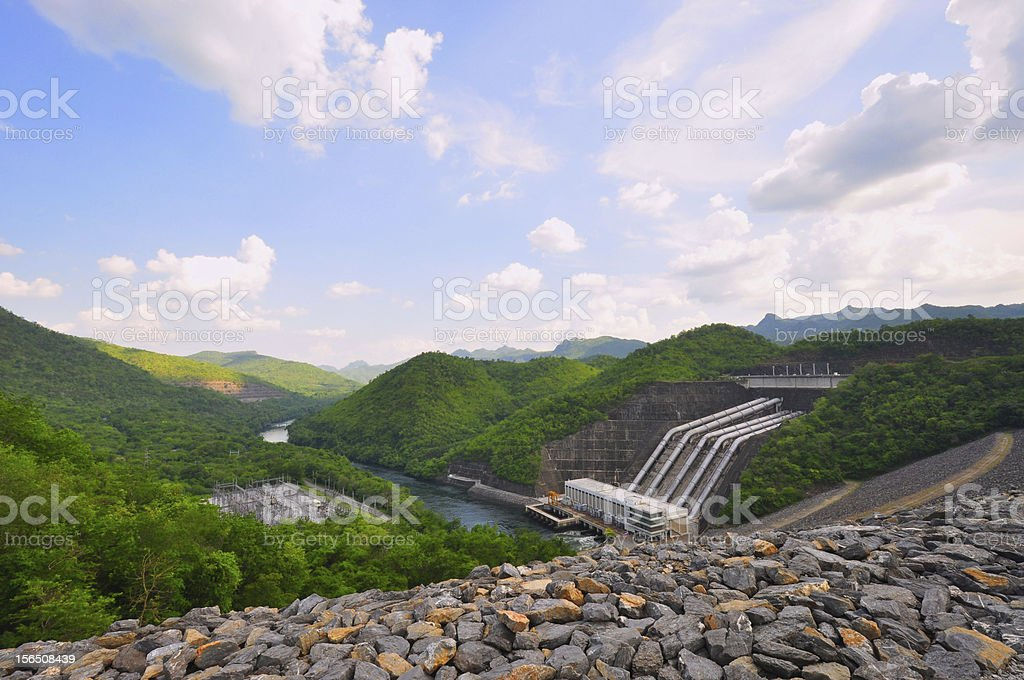 Dam in Thailand royalty-free stock photo