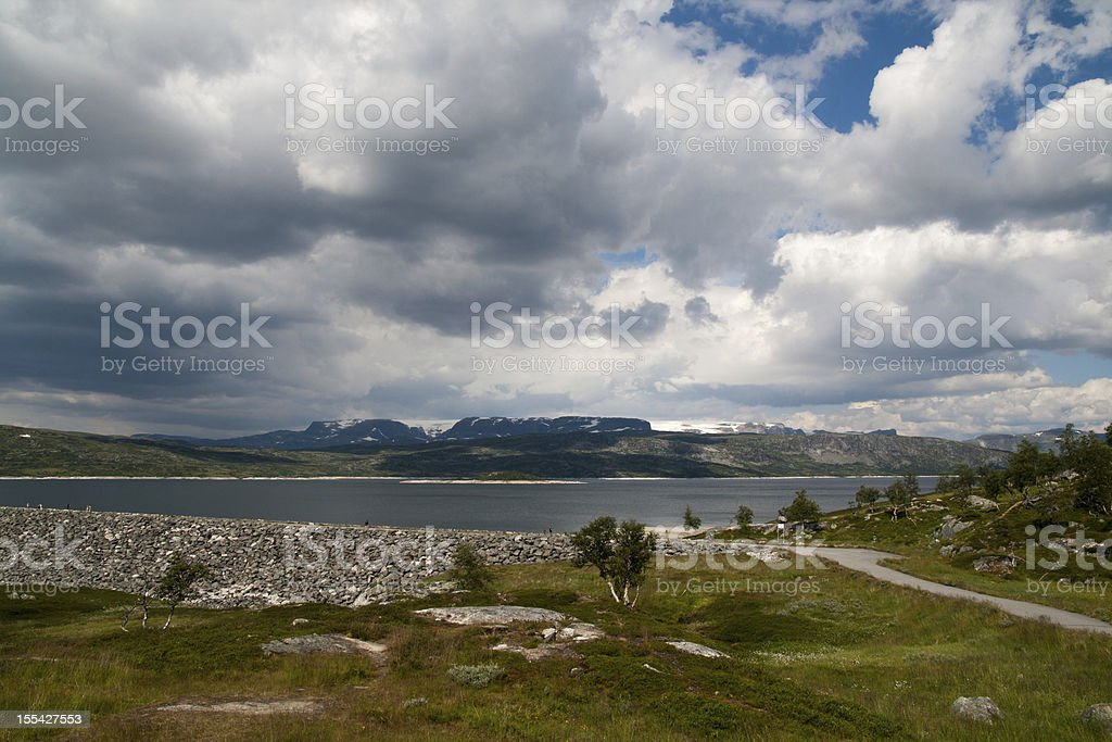 Dam in the mountains royalty-free stock photo