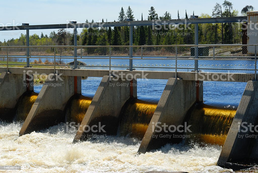 Dam in Whisteshell Provincial Park royalty-free stock photo
