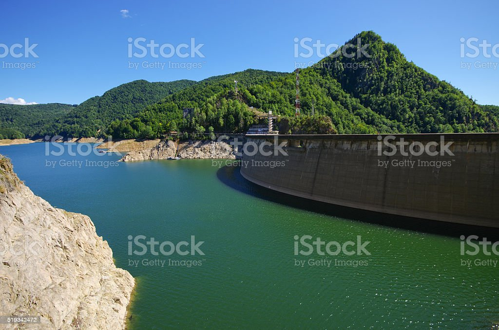 Dam lake Vidraru, Romania stock photo