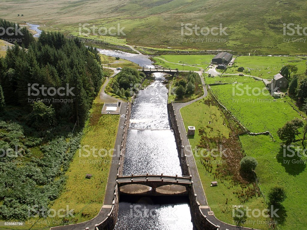 Dam of Clearwen reservoir royalty-free stock photo