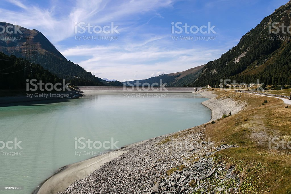 Dam of reservoir Laengental royalty-free stock photo