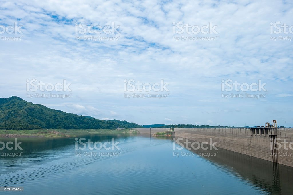 dam of the hydro power sation in thailand stock photo