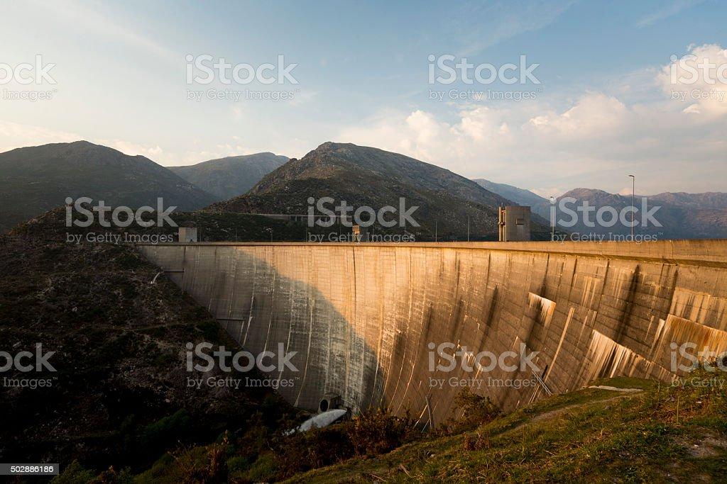 Dam of Vilarinho das Furnas at Gerês Natural Park, Portugal stock photo