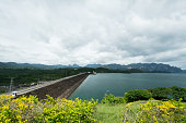 Dam on cloudy day