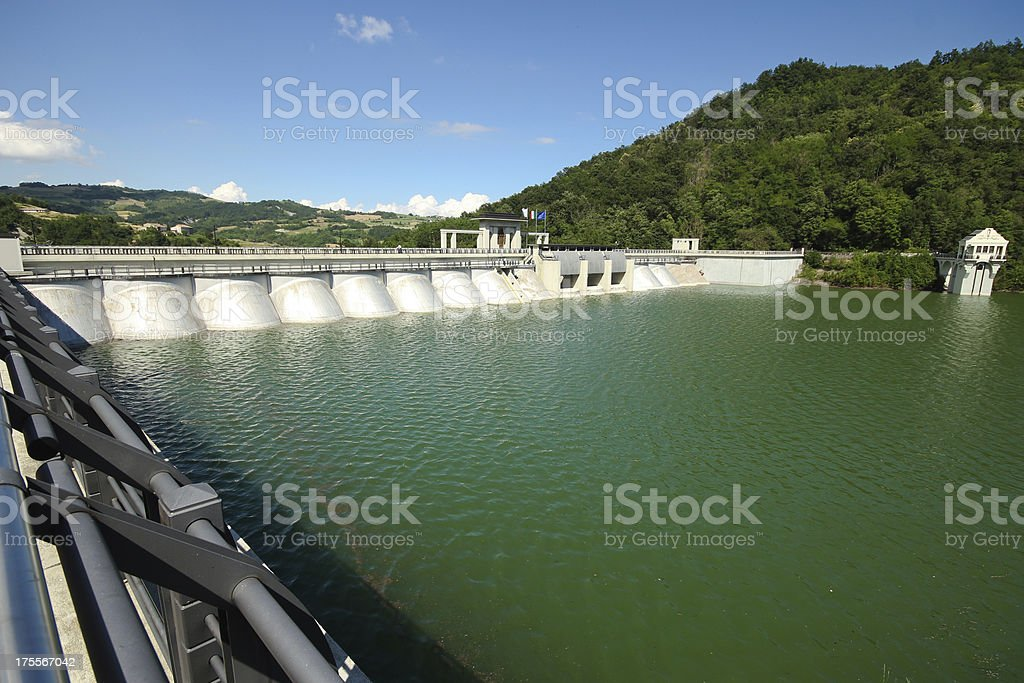 Dam on the river Tidone royalty-free stock photo