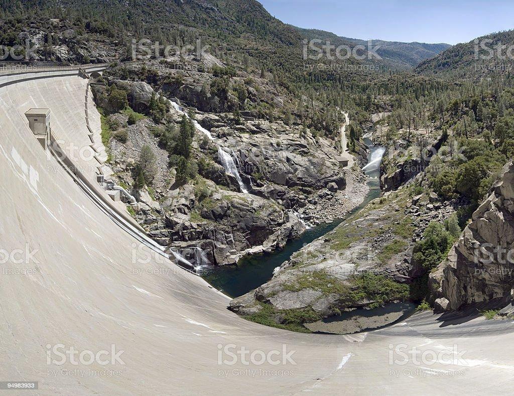 Dam on Tuolumne River, Yosemite stock photo
