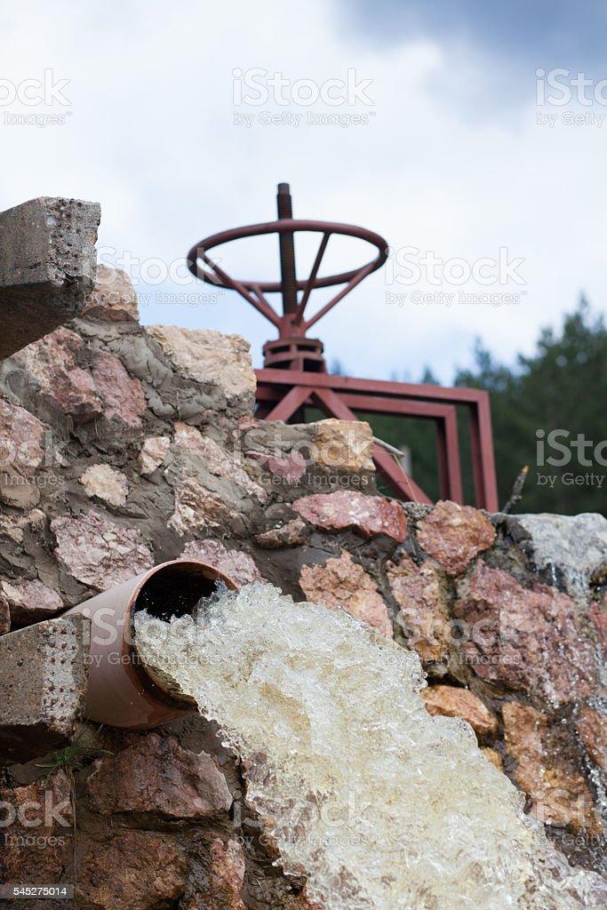 dam valve stock photo