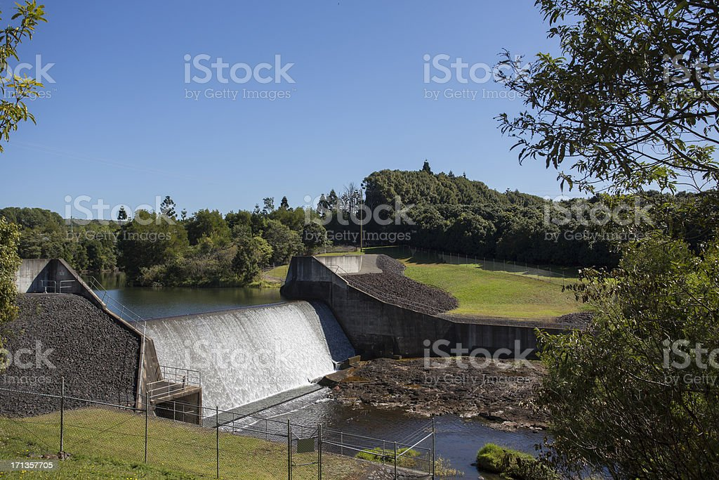 Dam Wall Spillway stock photo