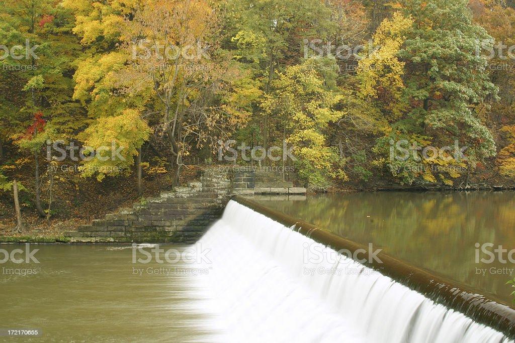 Dam & Water Fall - Youngstown, Ohio stock photo