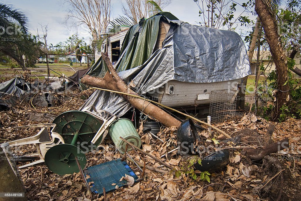 Damage caused by tropical cyclone royalty-free stock photo