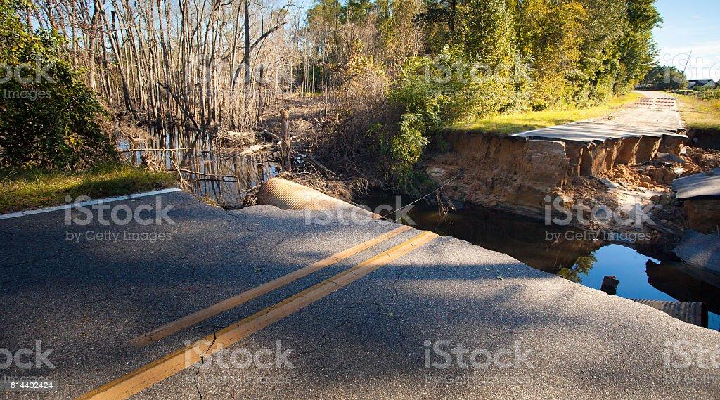 Damage from Hurricane Matthew stock photo