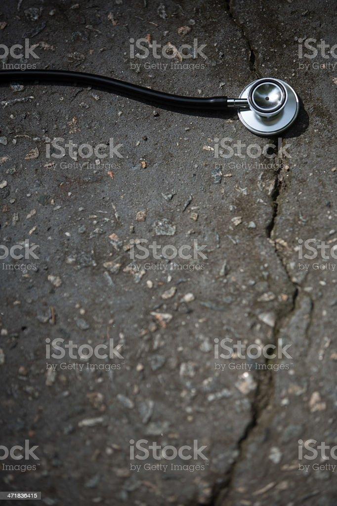 Damage repair royalty-free stock photo