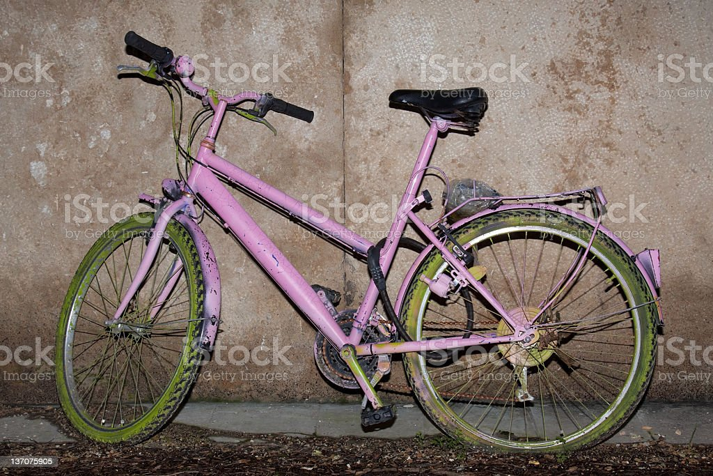 damaged bicycle royalty-free stock photo