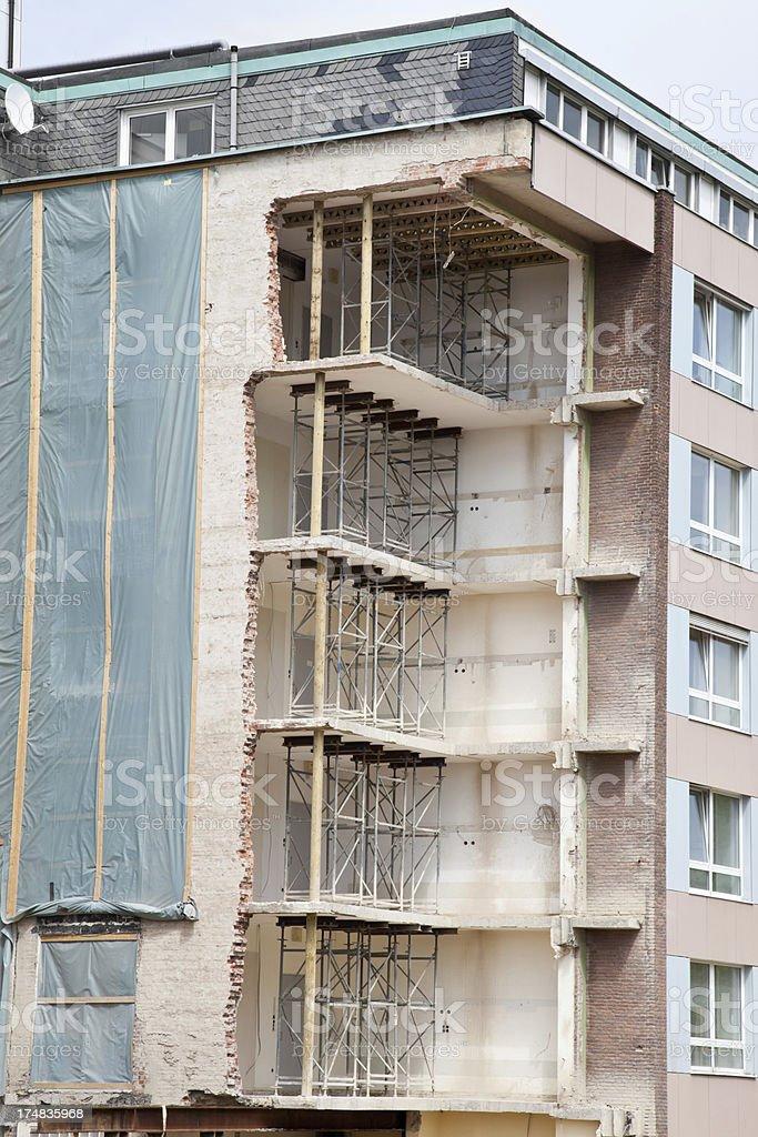 damaged building royalty-free stock photo