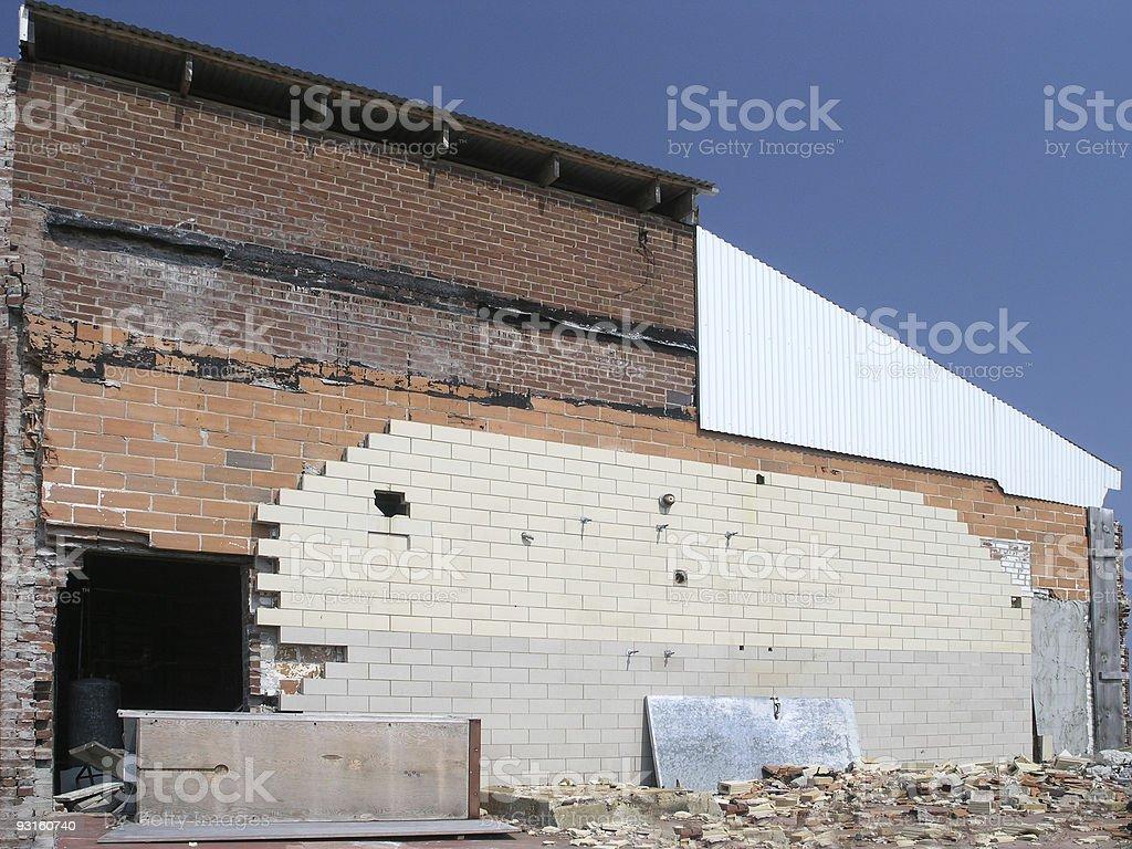 Damaged Building stock photo