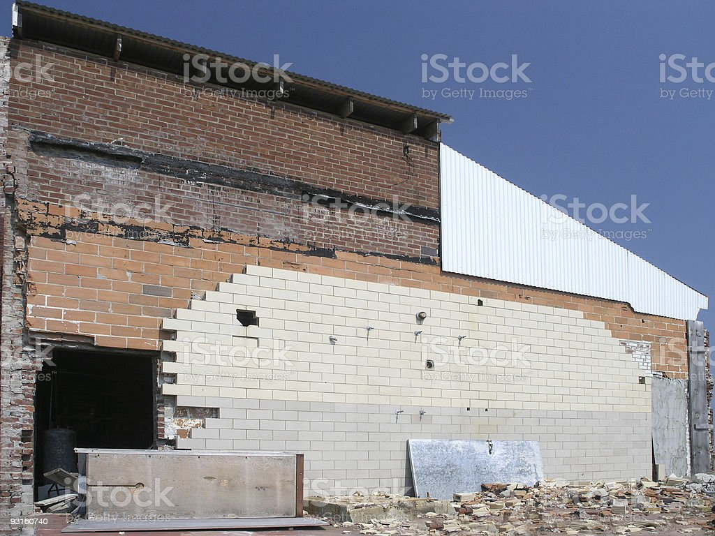 Damaged Building stock photo