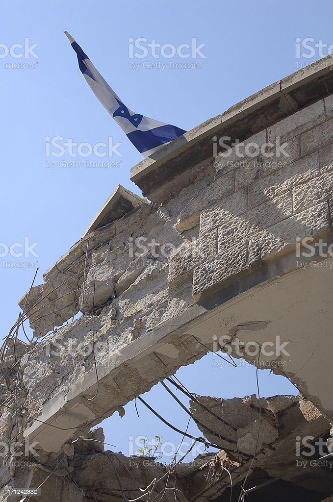 Damaged by War stock photo