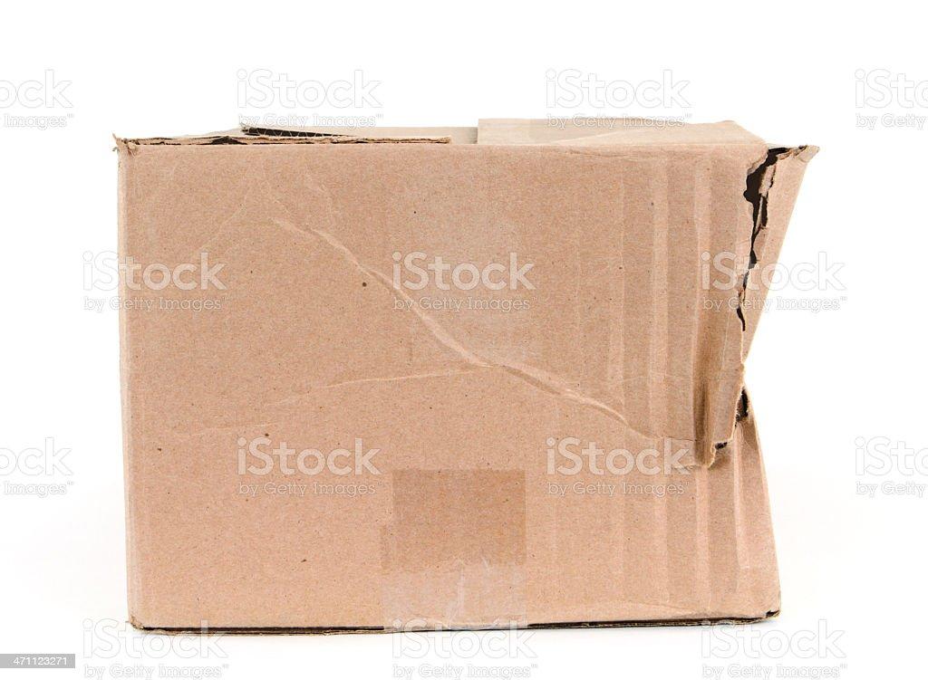 Damaged Cardboard Box royalty-free stock photo