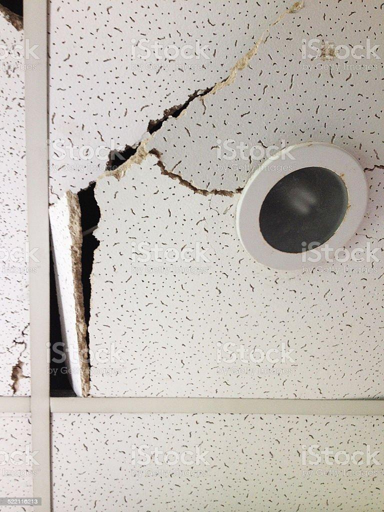 Damaged Ceiling Lights stock photo