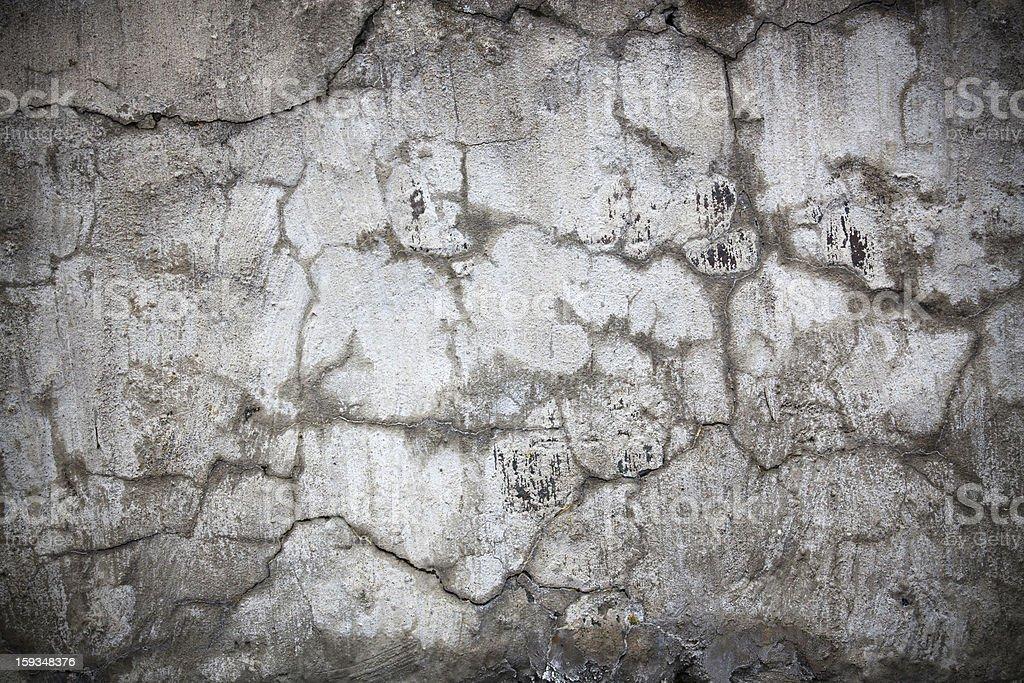 Damaged concrete wall stock photo
