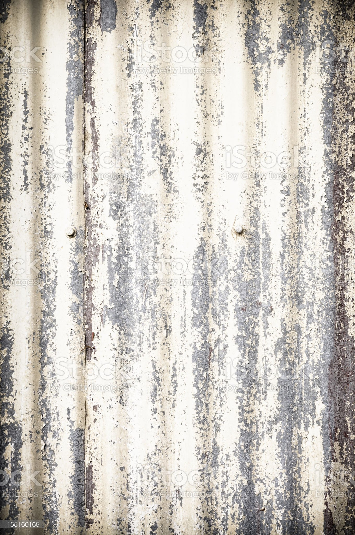 Damaged Corrugated Metal Background royalty-free stock photo